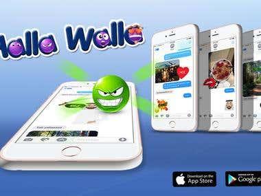 Halla Walla (android & iOS Emoji App)