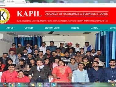 Kapilacademy -Educational institute website