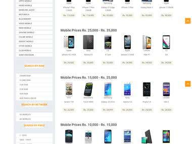 Mobiles Information Website. (Data Scrapped)