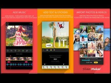SlideMaker - Video Editor & Photo SlideShow Make