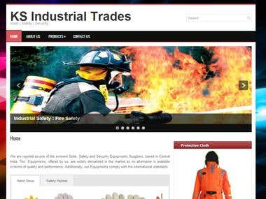 Website for Industrial Safety and Security