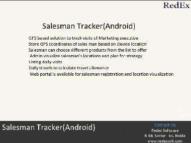 Sales Man Tracker App