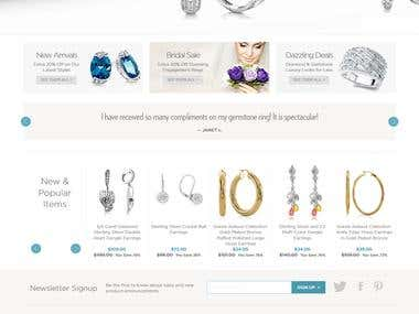 Developed website in Magento from scratch.