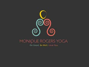 Logo for an yoga coach