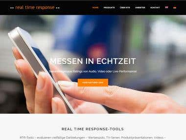 Website for a Swiss research company