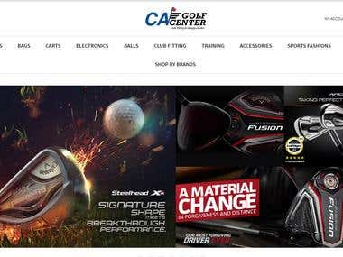 E-commerce portal for golf product