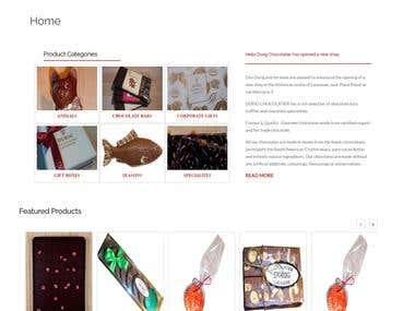 eCommerce Website for chocolate business in Switzerland.