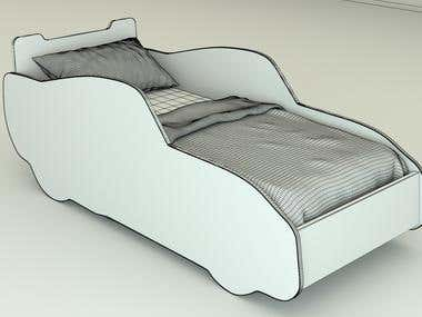 The model of the bed
