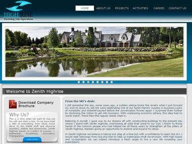 Zenith Highrise Investment Website