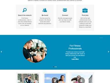 Develop and design website in PHP/Smarty.