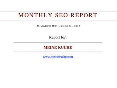 MONTHLY SEO REPORT...THIS IS HOW I WORK!!!