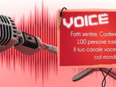 Web banner - Voice banner