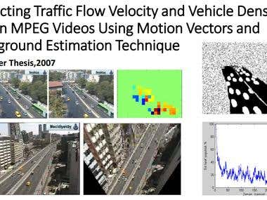 Extracting vehicle density and average velocity