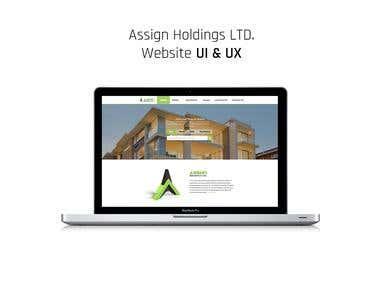 Assign Holdings LTD. Website UI & UX
