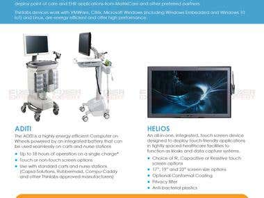 A4 double sided Catalog Brochure design
