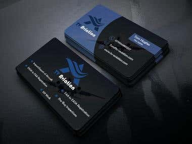 TV Aviation Business Card