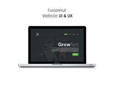 FUSION HUT Website UI & UX