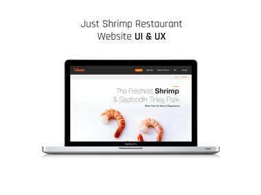 Just Shrimp Restaurant Website UI & UX