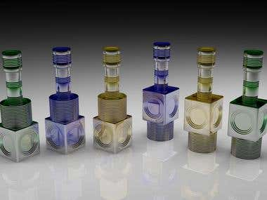 Tequila Bottle in 3D Presentation