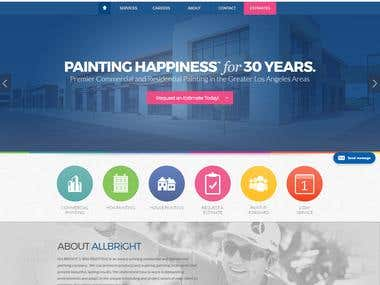 Commercial and Residential Painting: WordPress Site