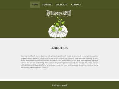 New Beginning Nursery- Website Design & Development