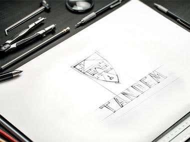 """Logo for real estate agency """"TANDEM"""""""