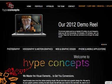 HypeConcepts Main Website