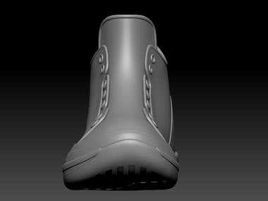 Shoes 3d modeling for 3d printing