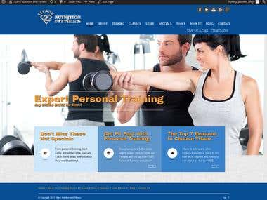 Titanz Nutrition and Fitness (Wordpress)