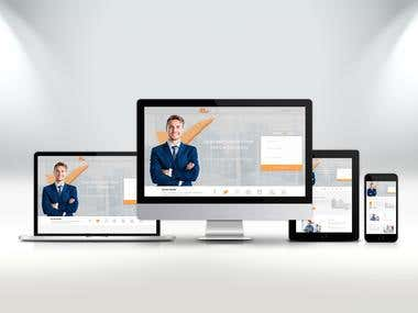 Web site for a financial company