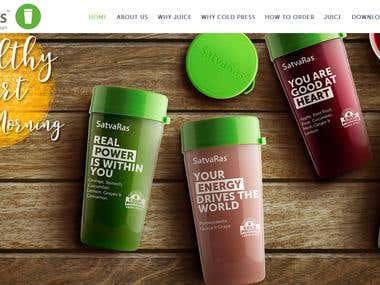 Satvaras Juice website