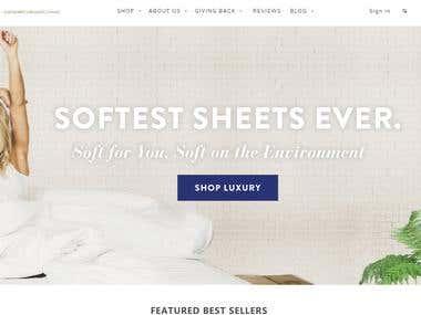 Shopify Organic Sheets