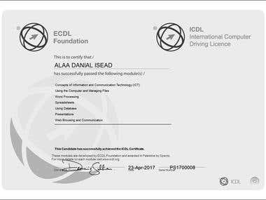 ICDL Certificate (Excel, Word, Access, Power Point)