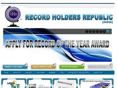Website Designing for Record Holders Republic
