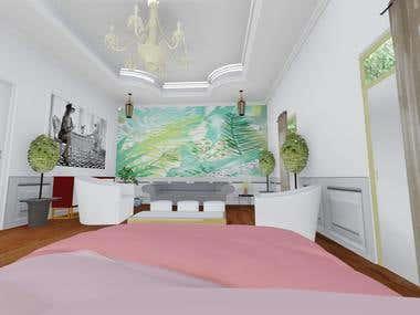 Interior Room Using Revit
