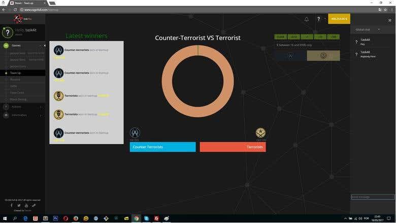 CSGOFULL - Gambling Website built with Laravel 5 4 + Nodejs | Freelancer