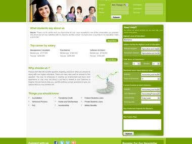 Lead generation website for EDU industry