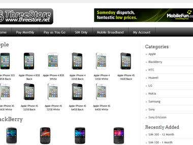 Mobile Store Wordpress