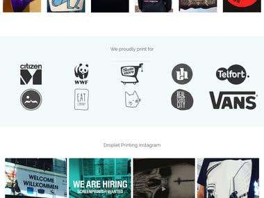 Wordpress site for a T-Shirt Printing company