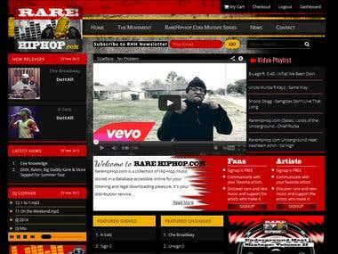 HipHop Music Website
