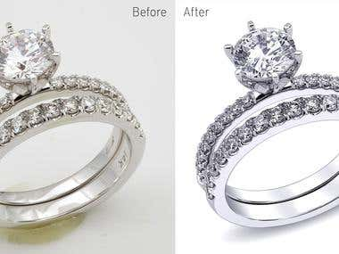 jewellery background remove and retouch