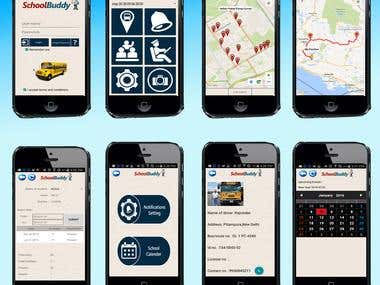 School bus realtime tracking app