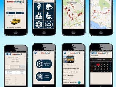 School bus realtime tracking app