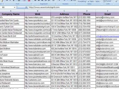 Data scraping and email listing and web research