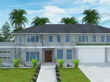 exterior designing and rendering