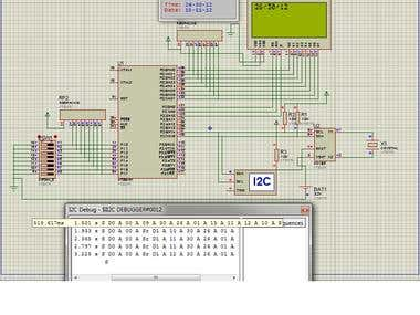 I2C RTC interfacing and simulation