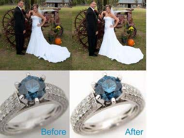 Photoshop Retouching Work