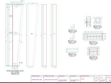 Column Detail for Steel Shed ( AutoCAD Work )