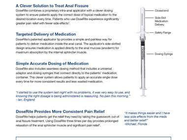Data Sheet Flyer for Medical Product.