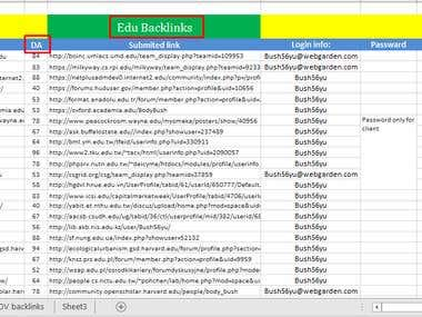 NEED .EDU BACKLINKs WITH HIGH DOMAIN AUTHORITY (DA)